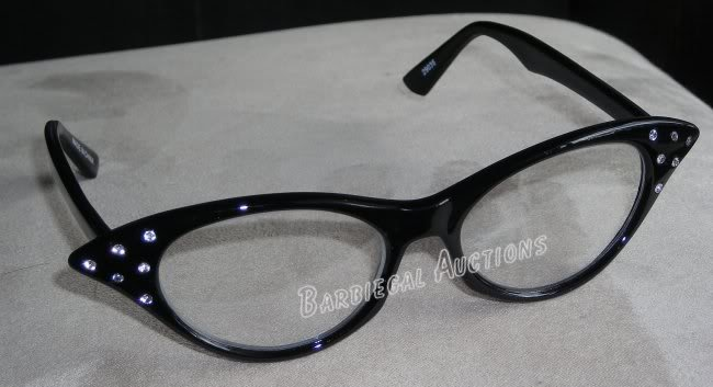 Black Cateye Glasses~Cat Eye~1950's Halloween Costume