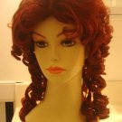 Auburn Red Southern Belle Halloween Costume Wig~Bell