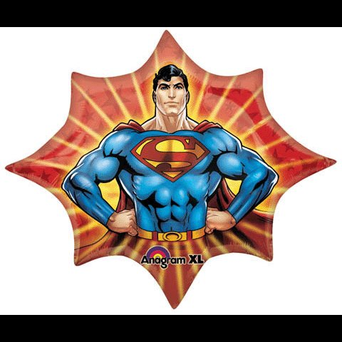 "35"" SUPERMAN BOYS BIRTHDAY PARTY BALLOON~DECORATIONS"