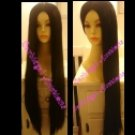 Long Black Straight Wig~No Bangs~Cosplay~Cher~Costume