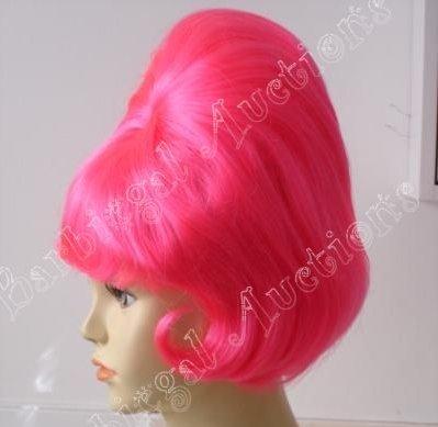 Hot Pink Beehive Spitcurl Wig ~1950's-Sixties~Fifties Halloween Costume