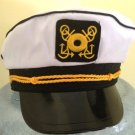 CAPTAIN'S HALLOWEEN COSTUME HAT~CAP~BOAT~BOATING~YACHT~SKIPPER~SAILING~ADULT SIZE~NAVY