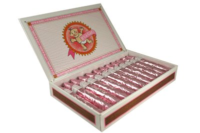 It's a Girl Pink Chocolate Cigars for baby girl