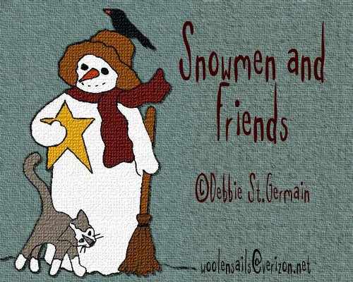 Rug hooking & Punch Needle Pattern EBooklet: Christmas Whimsey