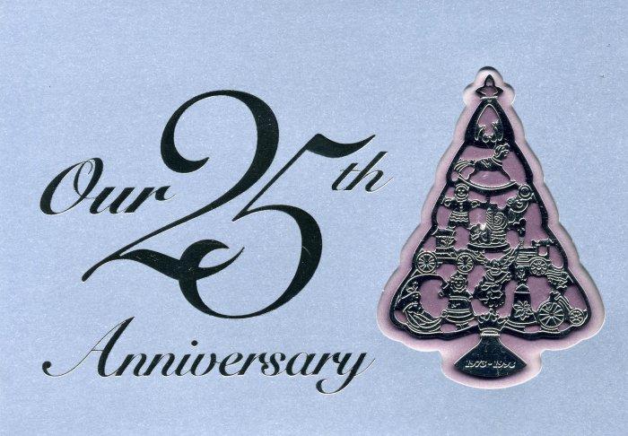 Hallmark 25th Anniversary Surprise Club Ornament 1998