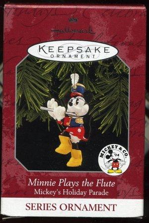 Hallmark MINIE PLAYS THE FLUTE Mickeys Holiday Parade
