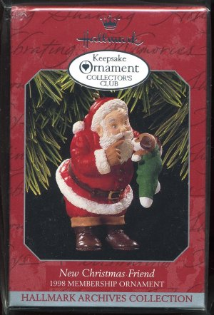 Hallmark 1997 Membership Collectors Club New Christmas Friend