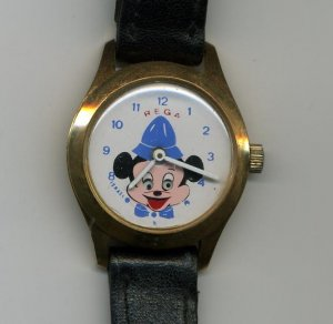 REGA Israel Watch Mickey Mouse Vintage wind up OLD