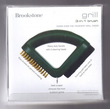 Brookstone 3-In-1 Grill Brush