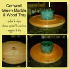 Cheese & Cracker Tray by Cornwall USA - Oak & Green Marble