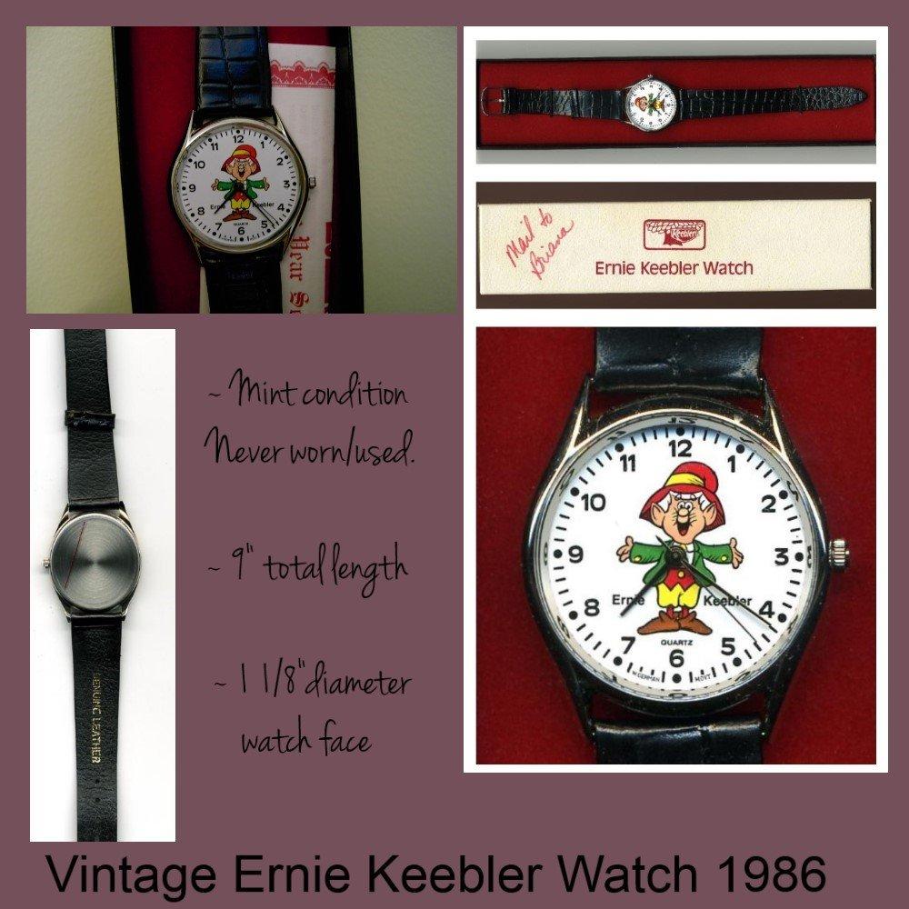 Ernie Keebler Elf Quartz Watch Vintage Collectible