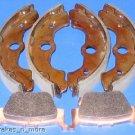 HONDA BRAKES RINCON 650 FRONT SHOES & REAR BRAKE PADS #2-1129-1-1084 W/S