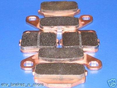 KAWASAKI BRAKES 87-04 KSF250 MOJAVE 250 FRONT & REAR BRAKE PADS 2-15-128-1-84