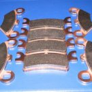 POLARIS BRAKES 2008 500 SPORTSMAN TOURING EFI QUAD FRONT & REAR BRAKE PADS #2-7036-2-7058S