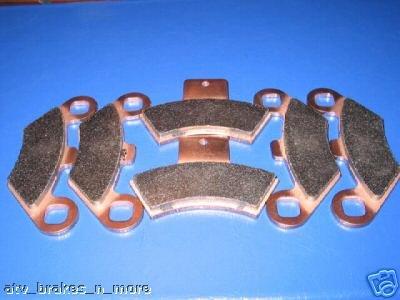 POLARIS BRAKES 98 - 02 SCRAMBLER 400 4x4 FRONT & REAR BRAKE PADS #2-7036S-1-7047S