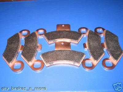 POLARIS BRAKES 01-02 XPLORER 400 FRONT & REAR BRAKE PADS #2-7036S-1-7047S