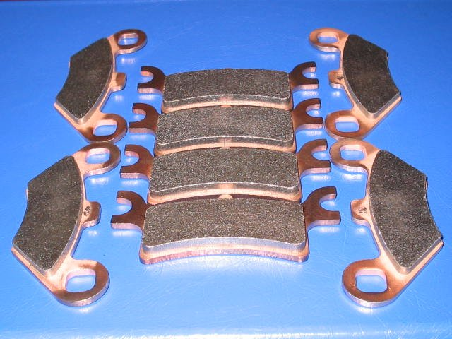 POLARIS BRAKES 07-08 SPORTSMAN 500 X 2 EFI QUAD FRONT & REAR BRAKE PADS #2-7036-2-7058S