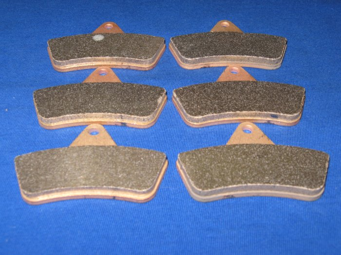 BRAKES 1998 - 2004 ARCTIC CAT ATV 500 ALL MODELS FRONT & REAR BRAKE PADS 3-7063s