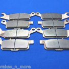 YAMAHA 07-11 GRIZZLY 700 FRONT & REAR BRAKE PADS #1-443-444-445-446