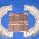 YAMAHA 07-08 350 GRIZZLY 2X4 FRONT & REAR BRAKE SHOES PADS #2-1012-1-2226