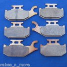 BOMBARDIER CAN AM BRAKES 06-09 OUTLANDER 800 FRONT & REAR BRAKE PADS #2-2049S-1-7064S