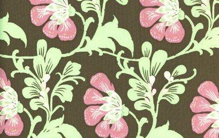 Amy Butler Daisy Chain Brown Sweet Jasmine Fabric 1 Yard