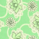 SALE Amy Butler Daisy Chain Green Clematis Fabric 1 Yard