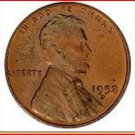 1958 wheat penny, circulated