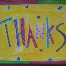 Colorful Thanks Handmade Card