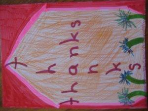 Kids Thanks Handmade Card