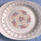 Sebring Pottery~Platter~Rose Bower Pattern~Lovely Gold and Pink Flower Design