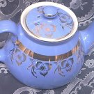 Vintage Hall Teapot~Beautiful Blue~22k Gold Design~Marked~Lovely~New York Pattern