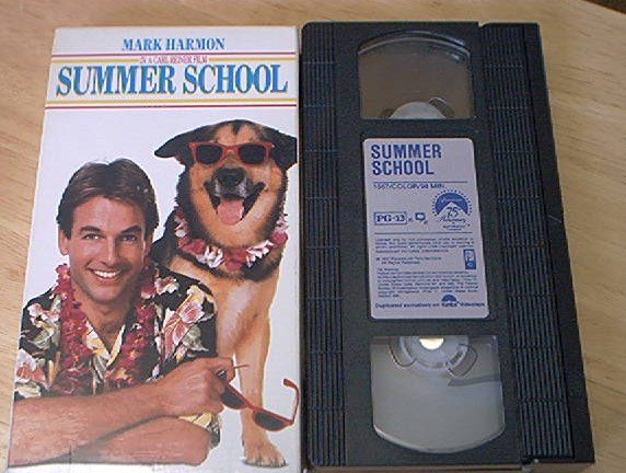 SUMMER SCHOOL~VHS~MARK HARMON~KIRSTIE ALLEY~1987