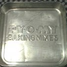 PY-O-MY BAKING MIXES COOK PAN~TIN~ADVERTISING~BAKEWARE~COUNTRY~PIE~CAKE