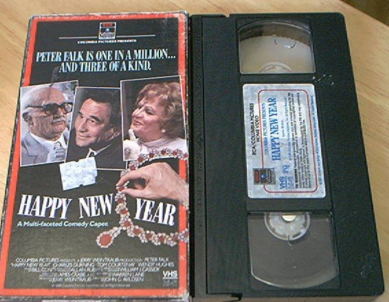 HAPPY NEW YEAR~VHS~PETER FALK~CHARLES DURNING~1987 HTF COMEDY CAPER