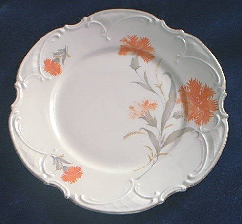 HUTSCHENREUTHER PLATE ~PAUL MULLER~SELB~GERMANY~CARNATIONS