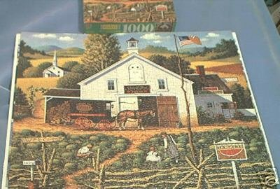 CHARLES WYSOCKI~JIGSAW PUZZLE~CATCHIN' BUGS~HAS ALL 1000 PCS~MELONS~CHILDREN