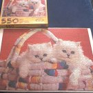 DON'T GET CARRIED AWAY~JIGSAW PUZZLE~KITTENS IN RAG BASKET~HAS ALL550 PCS~CEACO