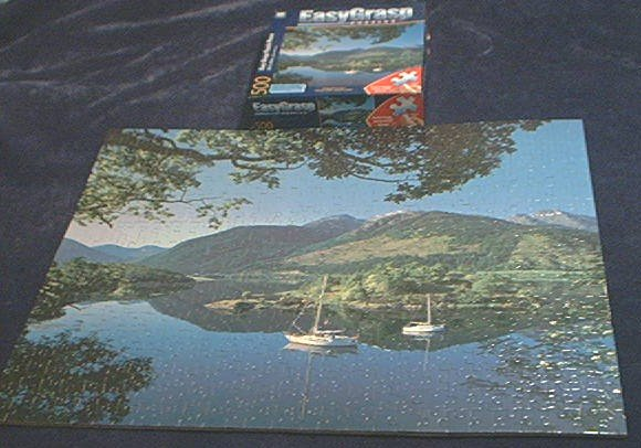 EZ GRASP~JIGSAW PUZZLE~BISHOP'S BAY, SCOTLAND~HAS ALL 500 BIG PIECES