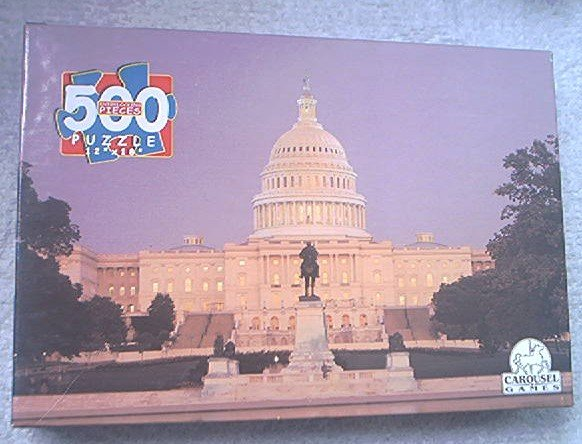 NATIONS CAPITOL WASHINGTON D.C.~JIGSAW PUZZLE~CAROUSEL GAMES~MINT UNOPENED