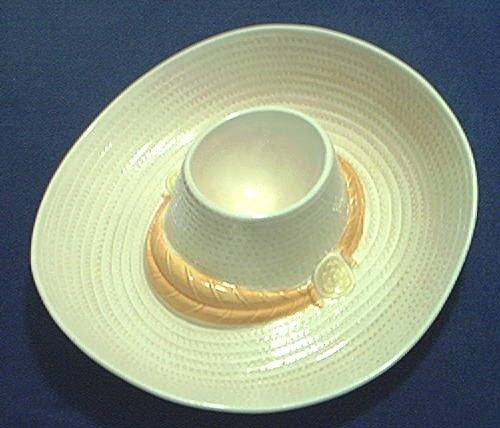 METLOX CALIFORNIA POTTERY SOMBRERO HAT CHIP AND DIP DISH~HARD TO FIND~EXCELLENT CONDITION