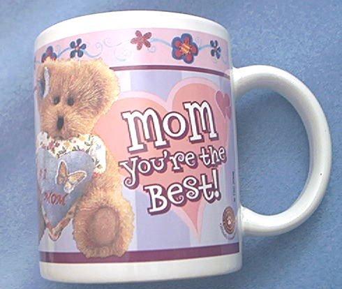 BOYD'S BEARS #1 MOM MUG ~MOM YOU'RE THE BEST~CUTE TEDDY BEAR