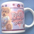 BOYD'S BEARS #1 MOM MUG ~MOM YOU'RE THE BEST~CUTE TEDDY BEAR