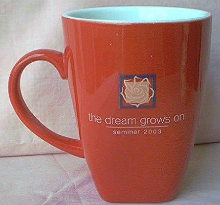 MARY KAY RED MUG~THE DREAM GOES ON~SEMINAR 2003