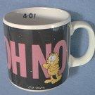 GARFIELD THE CAT~OH NO 4-0! BIRTHDAY MUG~1978~ENESCO