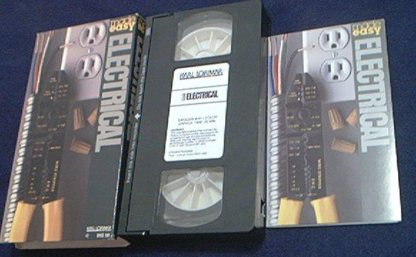 BASIC ELECTRICAL REPAIRS MADE EASY~VHS~KARL LORIMARE VIDEO~INSTRUCTION~1986