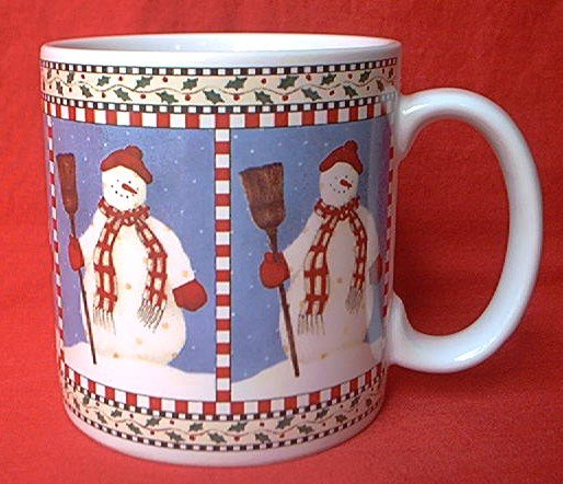 DEBBIE MUMM~SNOWMAN CHRISTMAS~MUG~1997~SAKURA
