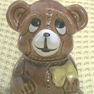 TEDDY BEAR HONEY POT JAR ~ADVERTISING~1982~ADORABLE