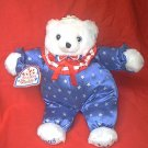 Fourth OF JULY TEDDY BEAR ~1993~ WHITE ~ORIG. TAG~RED/WHITE/BLUE SUIT