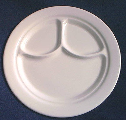 BUFFALO CHINA DIVIDED RESTAURANT STYLE PLATE ~WHITE